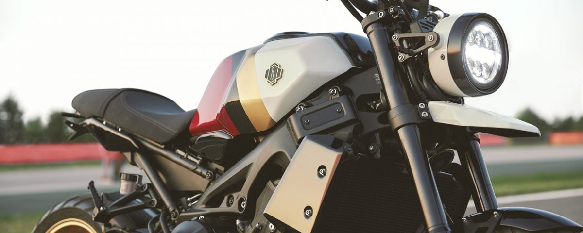 Bunker Chimera xsr900 fuel tank cover kit carbon detail